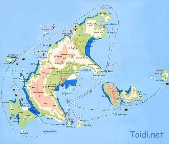 Bản đồ Côn Đảo