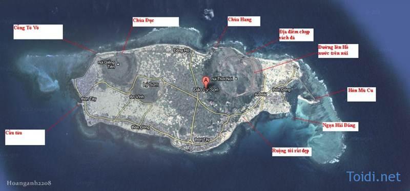 Ban do du lich Ly Son Du lịch Đảo Lý Sơn