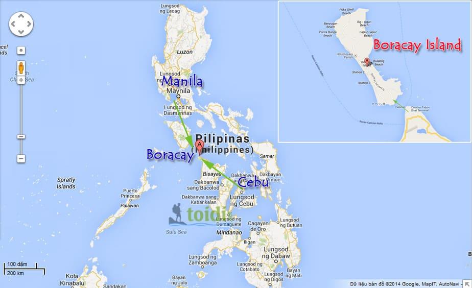 Ban do du lich Boracay