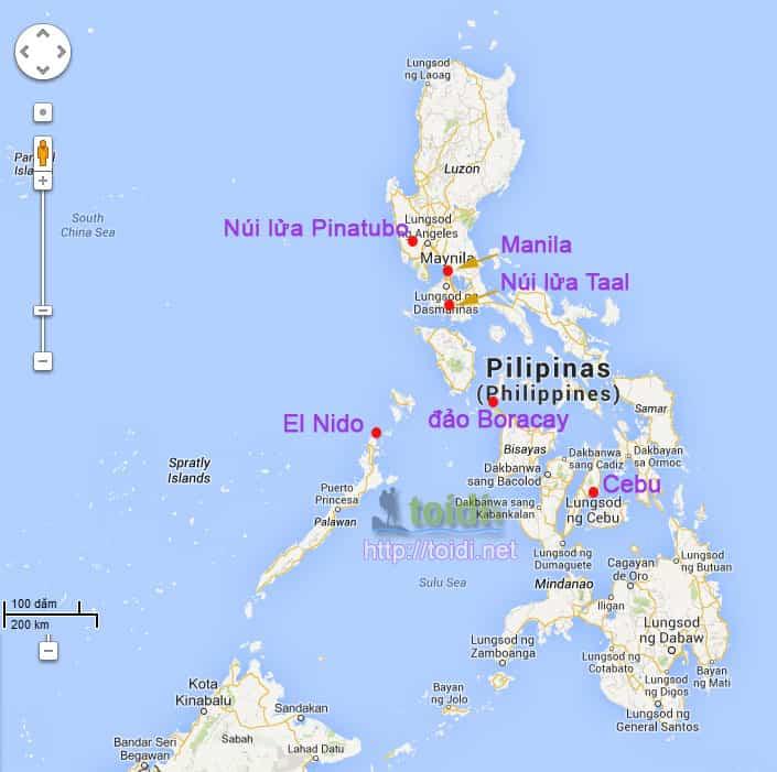 Diem du lich Philippines