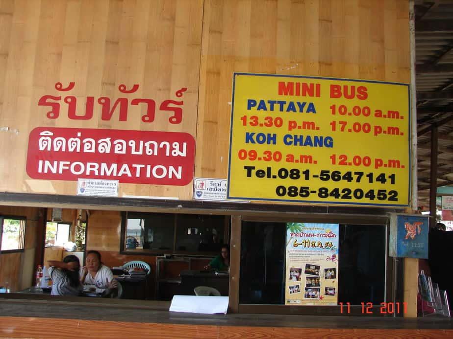Mua ve di Pattaya va Koh Chang