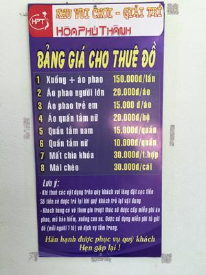 Bang gia Hoa Phu Thanh