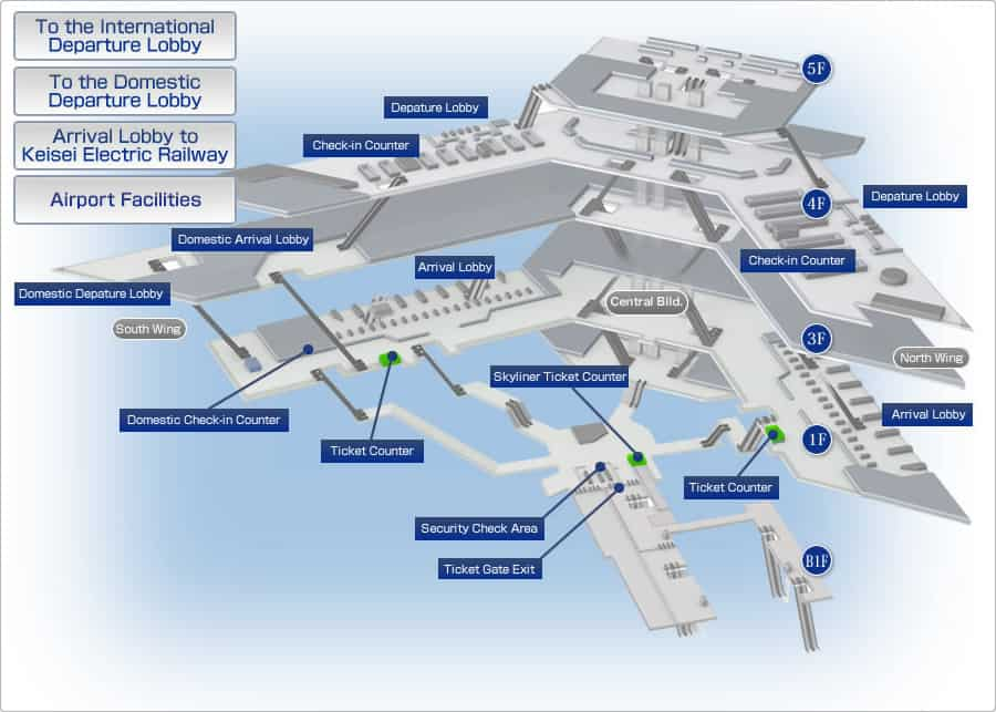 Image Gallery nrt airport terminal map