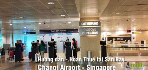 Hoàn thuế ở Sân bay Singapore
