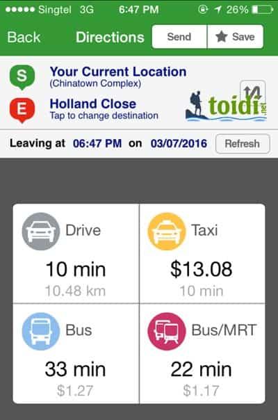 hướng dẫn đi xe bus ở Singapore