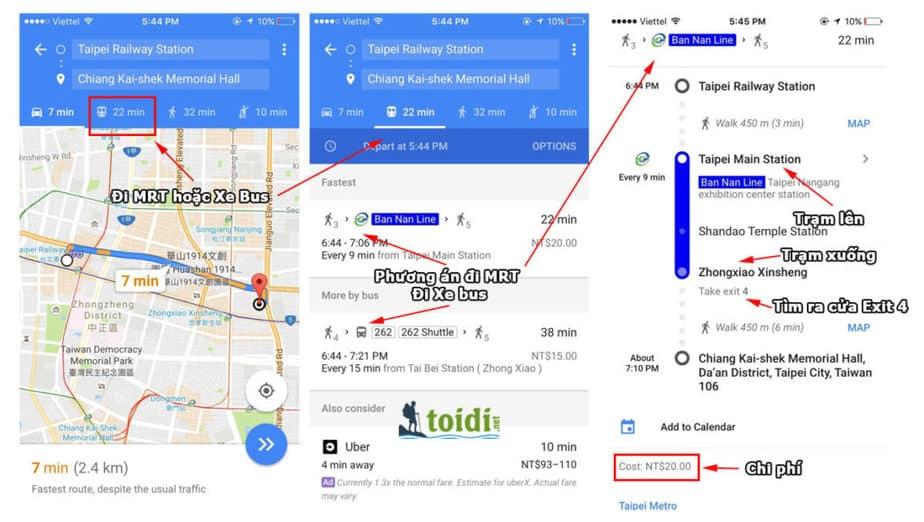 hướng dẫn đi MRT taiwan