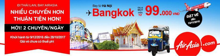 vé máy bay giá rẻ hà nội bangkok