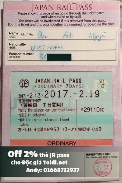 japan rail pass giá rẻ