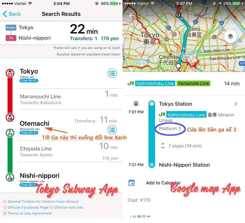App tìm đường Nhật Bản