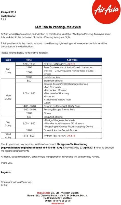 AirAsia Invitation Letter - Toidi-penang
