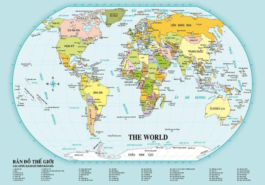 Bản Đồ Nước Nga có gì thú vị? Nga có phải nước rộng nhất thế giới